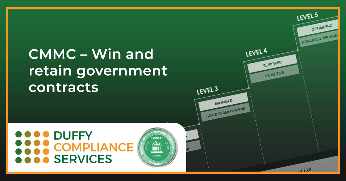 CMMC – Win and retain government contracts
