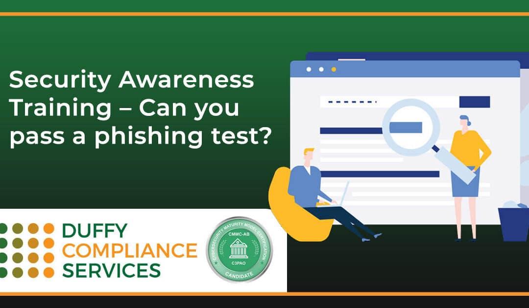 Security Awareness Training – Can you pass a phishing test?
