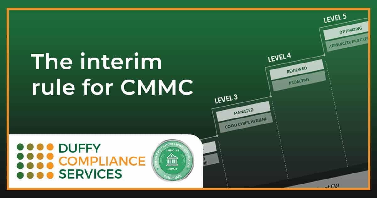 The interim rule for CMMC