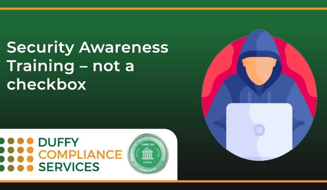 Security Awareness Training – not a checkbox